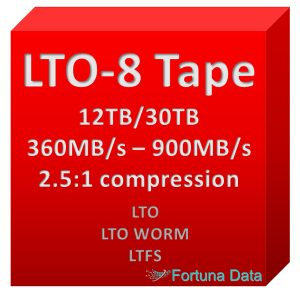 LTO 8 Tape Cartridge Media