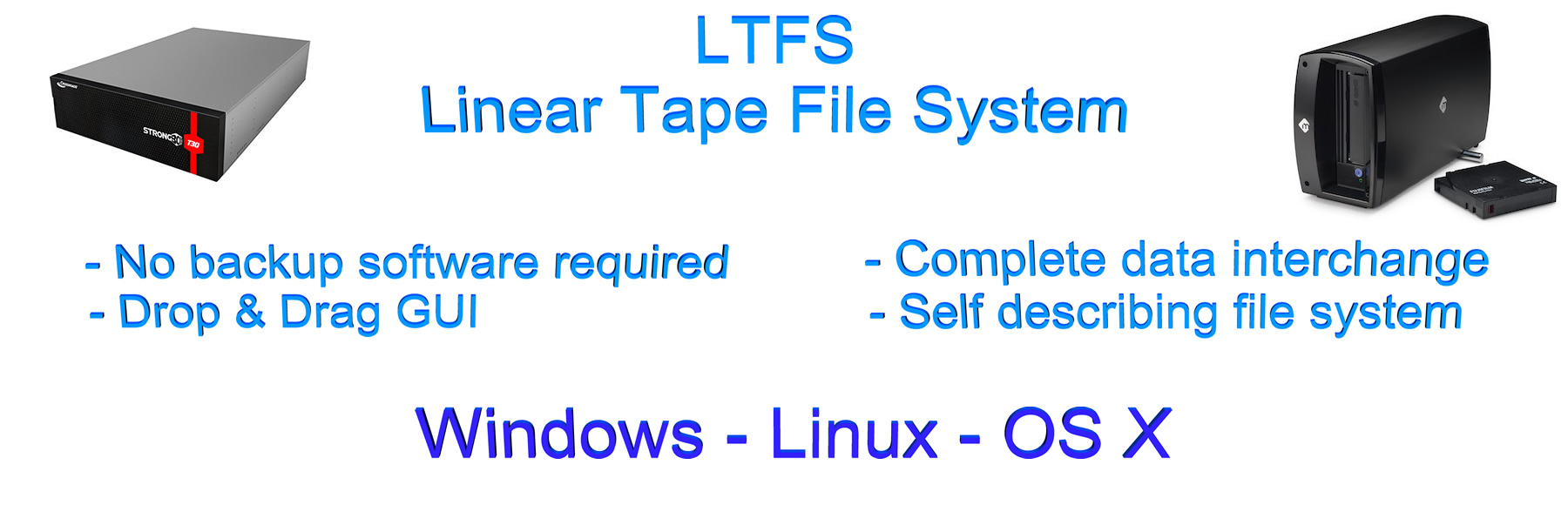 LTO LTFS - Linear Tape File System